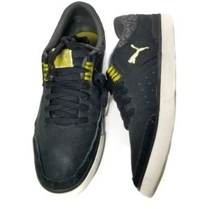 Puma   Black and Yellow Sneakers